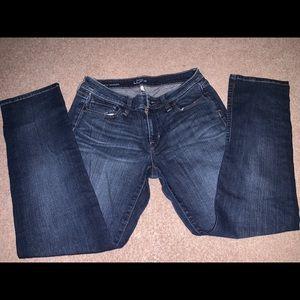 Ann Taylor Loft Curvy Straight Jeans 28 6 Petite